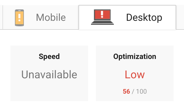 Improved PageSpeed Score