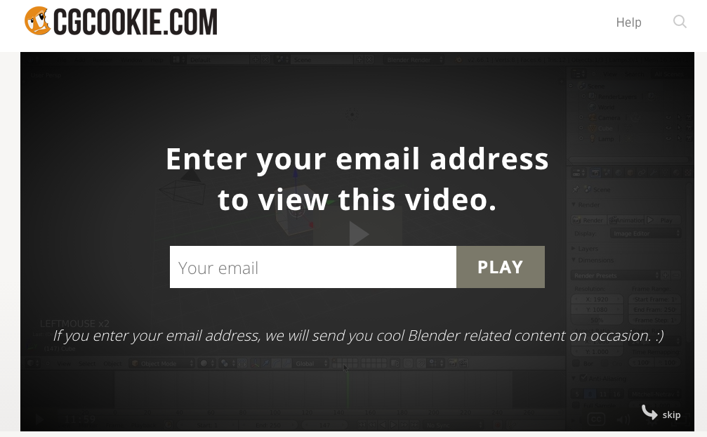 email prompter