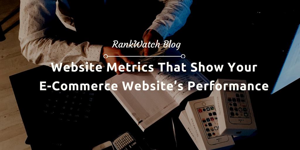 metrics for e-commerce website's performance