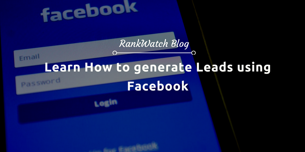 generate leads from facebook