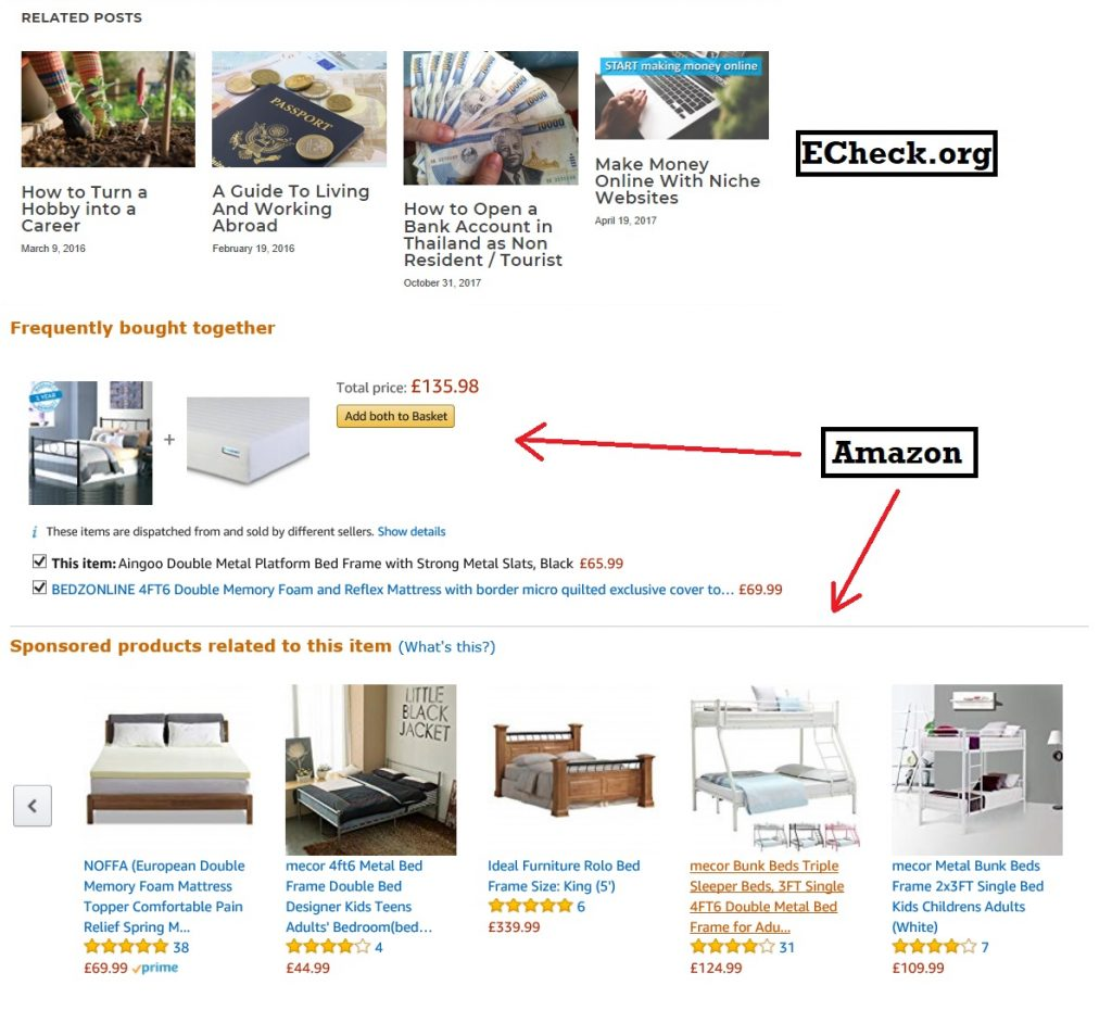 Suggested Posts from Echeck and Amazon