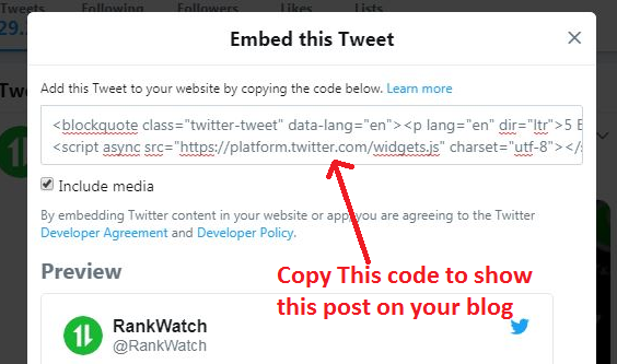Using Twitter features