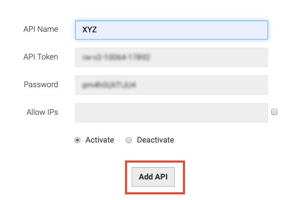 API Generation Key