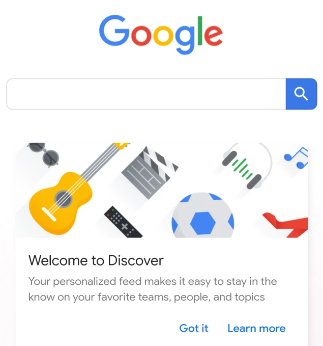Google Discover is a visual feed for users